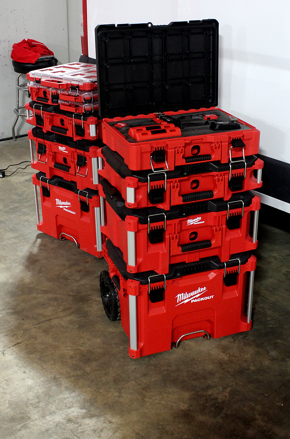 Milwaukee Tool also had several of its tool storage solutions on display, including its new PACKOUT Modular Storage Expansion coming out between September and December.
