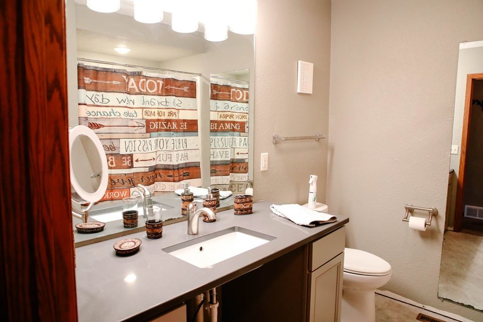 A completed bathroom in T 'N G Plumbing's most recent Pay It Forward project. (Photo courtesy of T 'N G Plumbing)