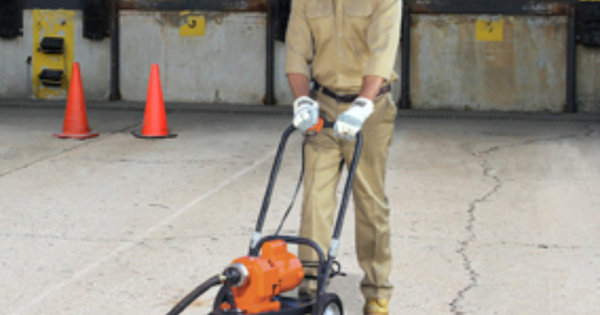 Walk Behind Sectional Drain Cleaner Packs A Punch