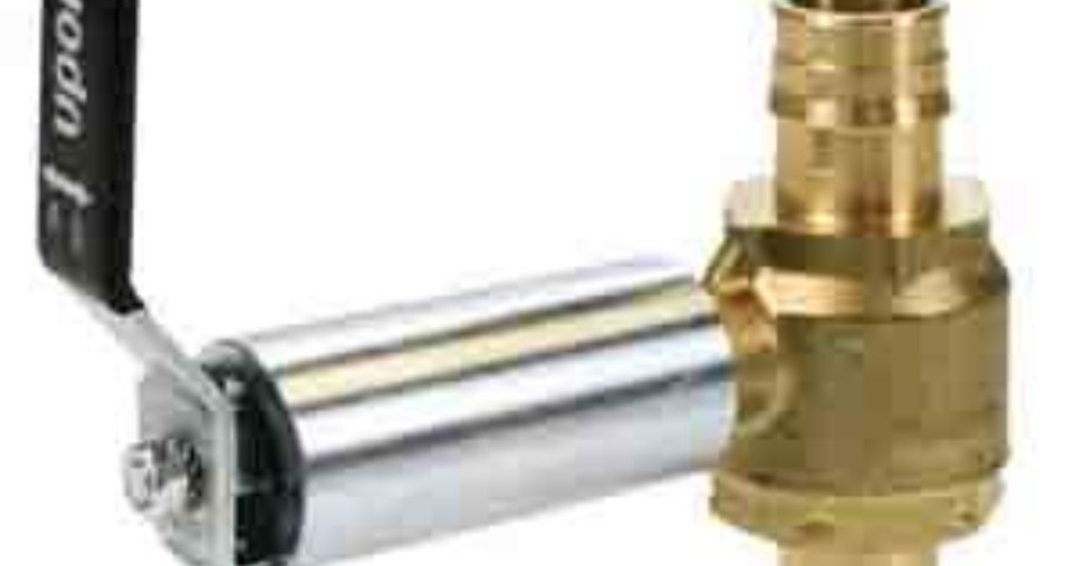 Product News Uponor Propex Brass Ball Valves Plumber