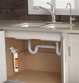 Tap Water Pes Through One Or More Filters And Travels Up To A Dispenser Mounted The Sink Deck